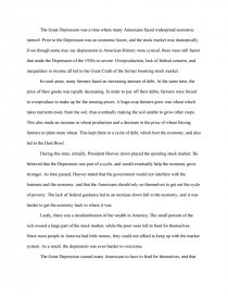 Essay on the great depression in america free resume template for college students