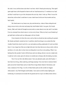 essay on life changing experience