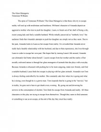 the glass menagerie essay similar essays the glass menagerie