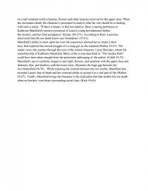 sixpence katherine mansfield essay