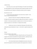 Academic Writing Study Guide