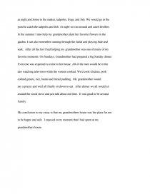 my grandmothers house essay