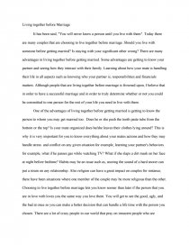 living together before getting married essay zoom zoom zoom