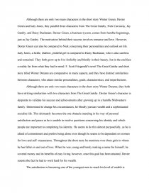 the great gatsby and winter dreams essay zoom