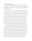 Critical Argument Analysis Paper