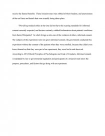 tuskegee experiment s violation of ethical guidelines essay zoom zoom