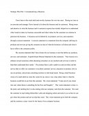 Ethics Paper - Conceptualizing a Business