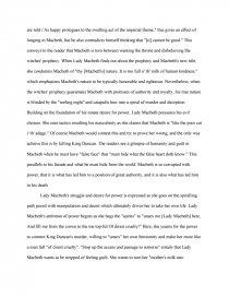 macbeth desire power essay