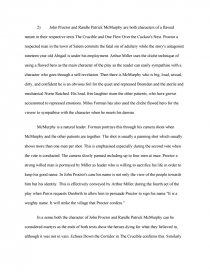 compare and contrast the characters of john proctor and randle p  essay preview compare and contrast the characters of john proctor and  randle p mcmurphy as heroes