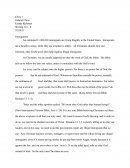 Argumentative Essay - Immigration