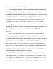 womens rights 1920 essay