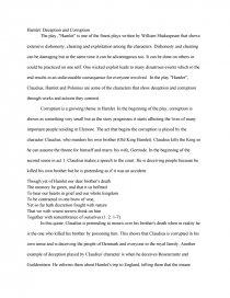 hamlet deception and corruption essay zoom zoom