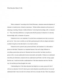 what does it mean to be educated essay