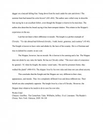 essays on canterbury tales the knight