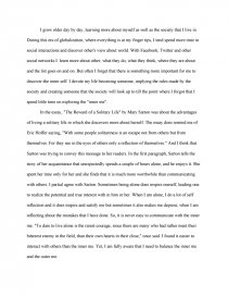 reading response the reward of the solitary life essay zoom zoom zoom