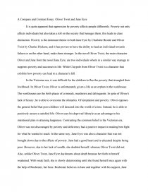 a compare and contrast essay oliver twist and jane eyre essay zoom zoom