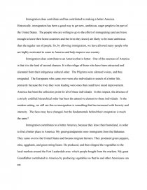 how does immigration contribute to a better america essay zoom zoom zoom