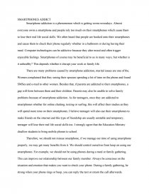 Smartphone Addicts - Essay