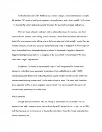 Essay On Nuclear Weapons  Topics For Reflective Essays also National Honors Society Essays Ford  An Integrated Ebusiness Strategy  Case Study How Do I Write An Argumentative Essay