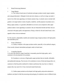 Cattleya Paper Products Brand Positioning Essay