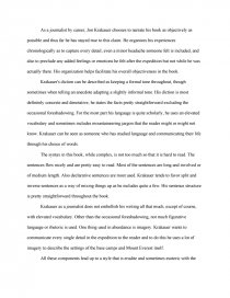 into thin air style essay similar essays