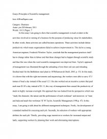 High School Admission Essay Examples  Example Biography Essay also Biographical Narrative Essay Example Principles Of Scientific Management  Research Paper Examples Of A Proposal Essay
