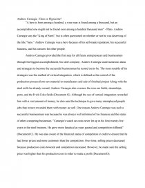 andrew carnegie hero or hypocrite essay similar essays