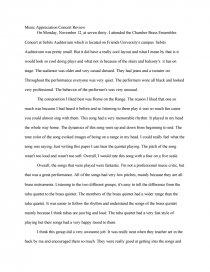 my school concert essay