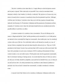 Victimless crimes essays cold war brinkmanship essay