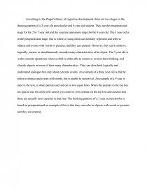 the piaget s theory essay similar essays