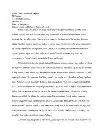 becomingphill logos pathos and ethos in antonys speech essay preview pathos logos and ethos in antonys speech