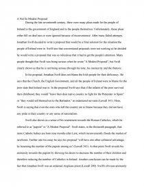 High School Reflective Essay Examples  Health Care Essay also Comparative Essay Thesis Statement A Paper Examining The Symbolism In A Modest Proposal By  Politics And The English Language Essay