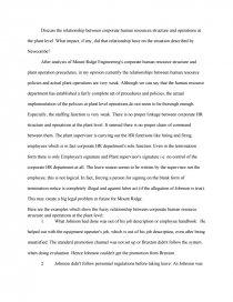 human resource management essay zoom