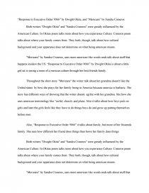 mericans by sandra cisneros summary