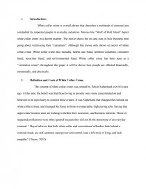 Essay Papers Examples Essay Preview White Collar Crime Zoom Zoom  Synthesis Essay Ideas also Essay Examples For High School Students White Collar Crime  Research Paper Proposal For An Essay