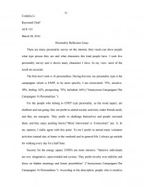 personality reflection essay   thesis zoom
