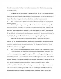 mattel case study essay