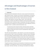 Advantage and Disadvantage of Tourism in New Zealand