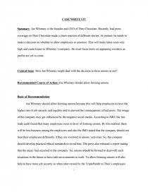 joe whinney   theo chocolate   case study essay preview joe whinney   theo chocolate