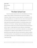 Best School Ever - Personal Experience Essay