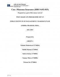 manzana insurance fruitvale branch abridged case solution
