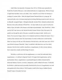 Megalomania sample essays apsa migration and citizenship section best dissertation award