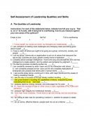 Self-Assessment of Leadership Qualities and Skills